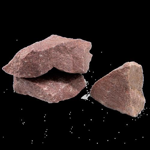 Камінь малиновий кварцит колотий середній_